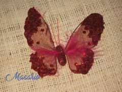 Mariposas de organza y cristal