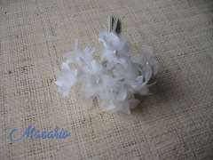 12 florecitas raso-tul-perla