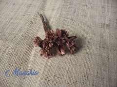 10 flores colores metálicos