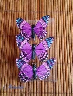 Mariposas de plumas rosas