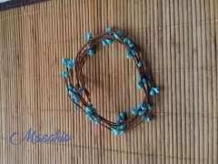 5 ramas de alambres tapeados con pistilos 38 cm