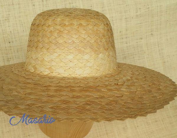 braided palm hat 42cm diameter