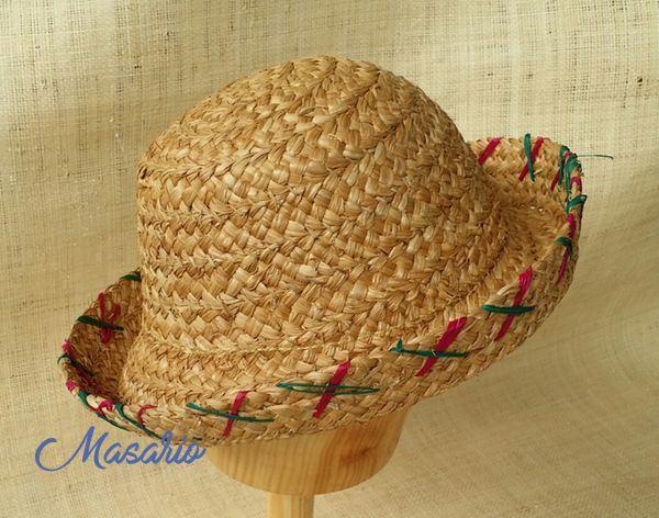 Sombreros bombín de paja