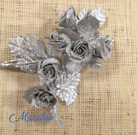 methalics flowers 3 cm