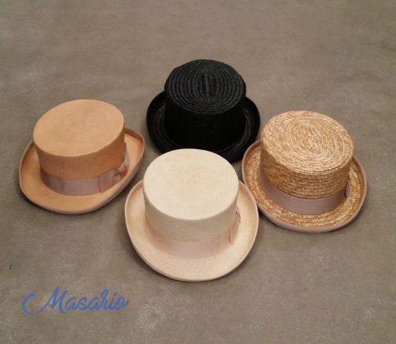 Low crown top hats (9-10cms.)