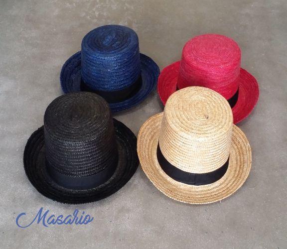 High crown top hats (15cms.)