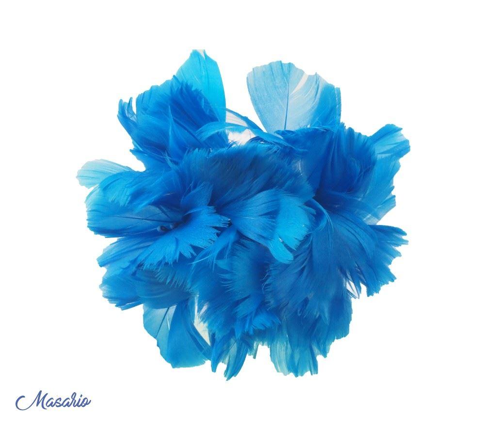 Hortensias de plumas 14 cm aprox