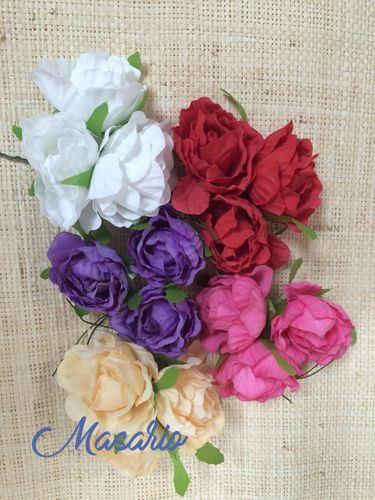 3 UND.Rosas mini 4 cm aprox.