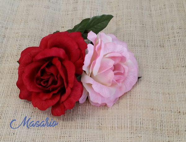 Cabeza de rosa 9 cm