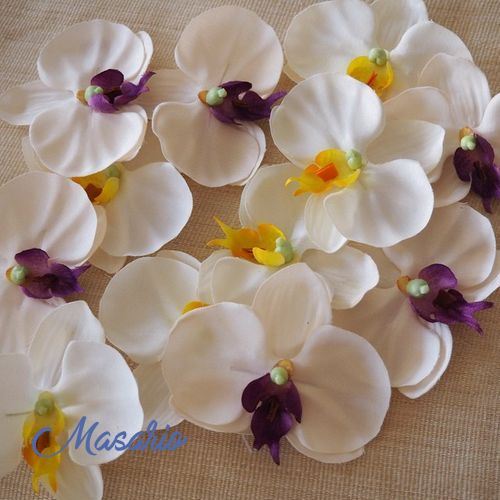 8 Orchid heads  9cm