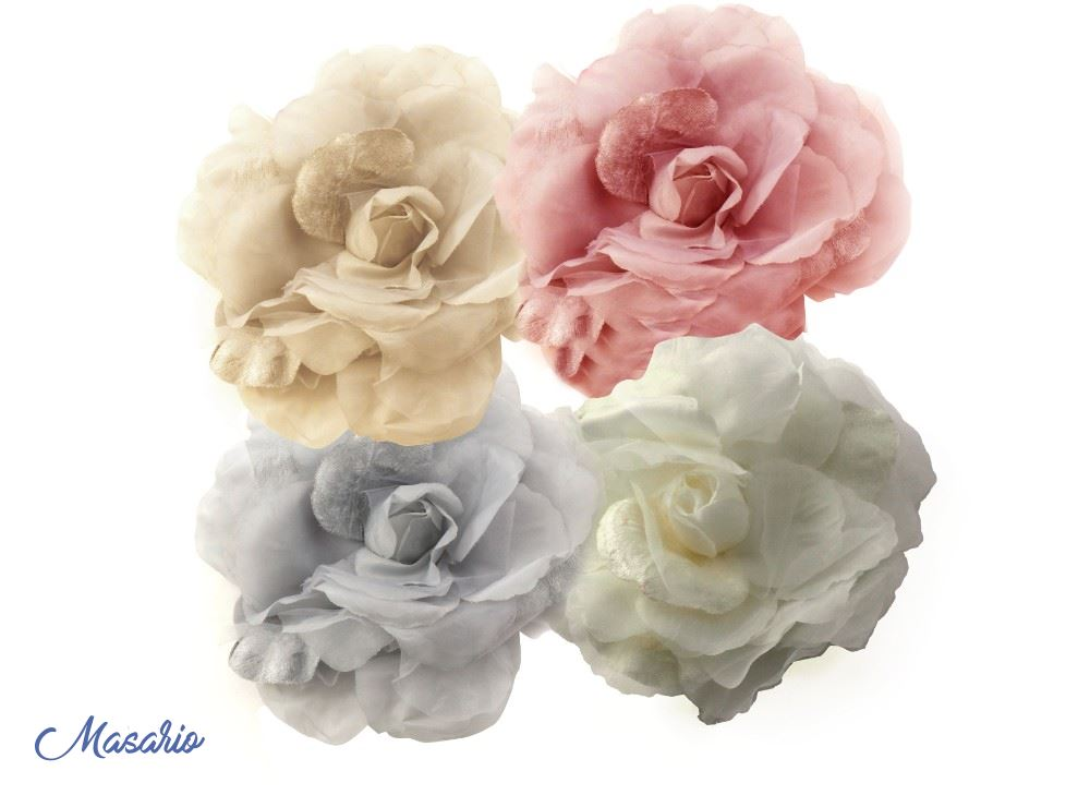 Rosa seda-terciopelo 17cm aprox