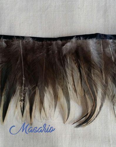 Rooster fringe natural 12-13 cm aprox.