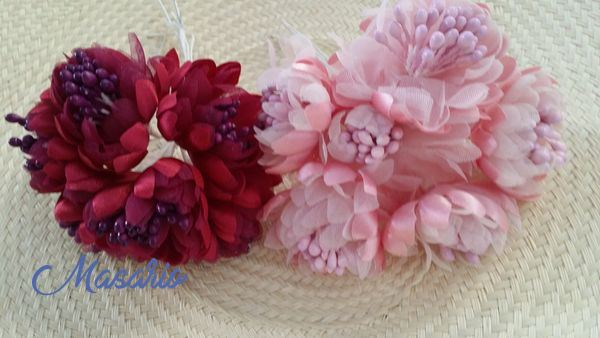 6 Flores(4-5cm) con pistilos