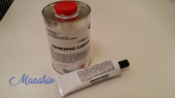 Adhesive special contact leather