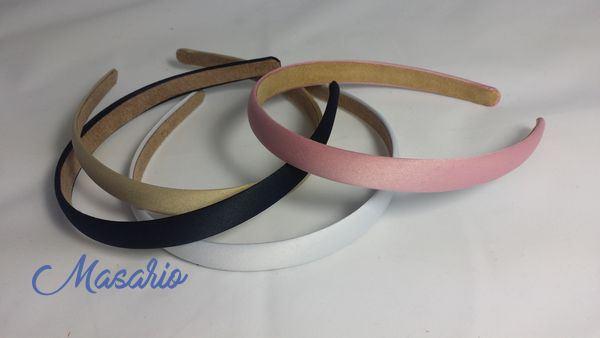 Diademas forradas raso 1,5 cm