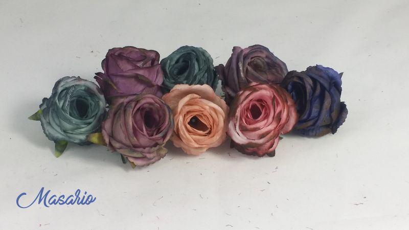 4 uds.Cabeza de rosa 4 cm