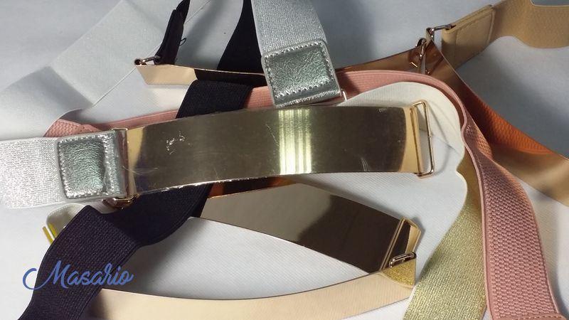 Cinturón elástico frente metálico