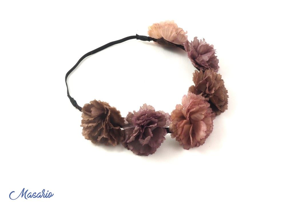 Elastic crown with 6 flowers