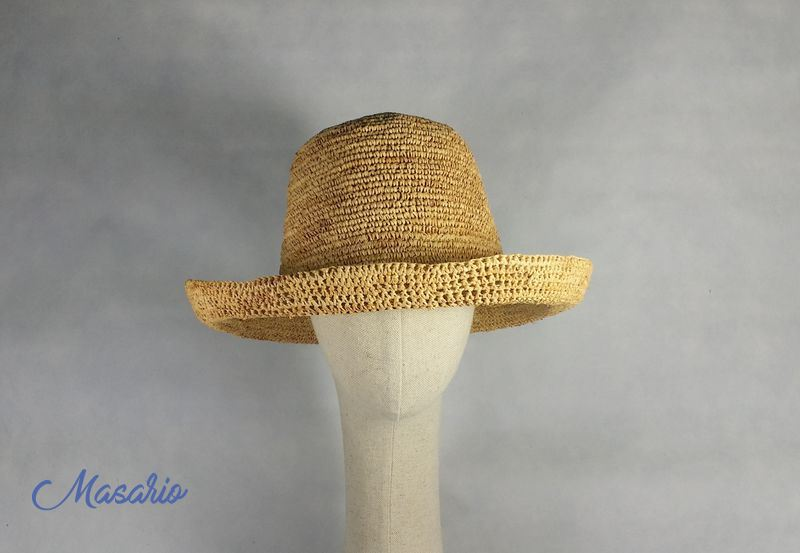 Sombrero croché paja natural