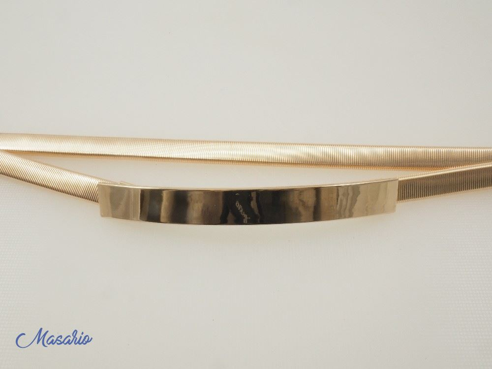 Elastic metal belt