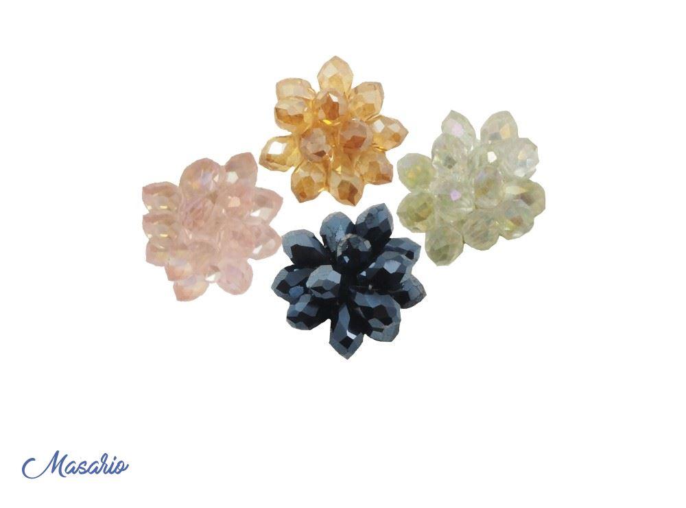 Flor de cristal 2 cm