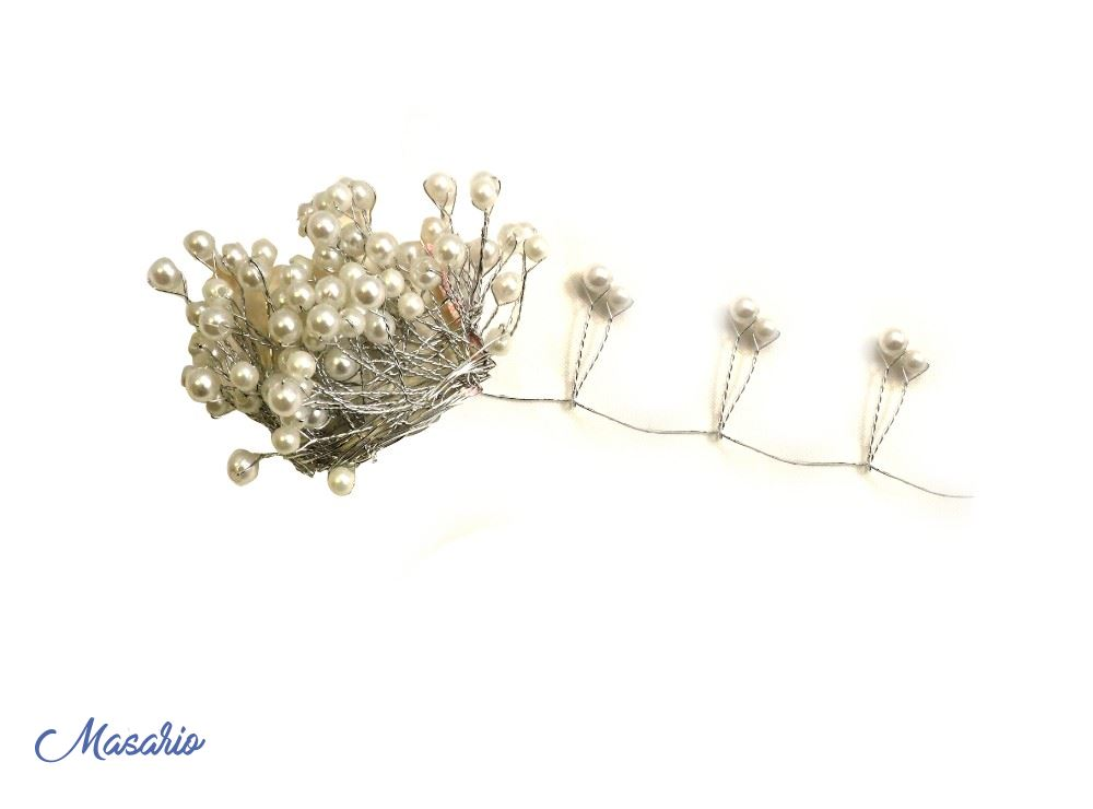 Tira alambrada de perlas