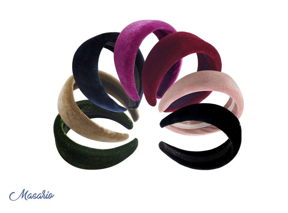 Padded velvet headband 4 cm. approx.