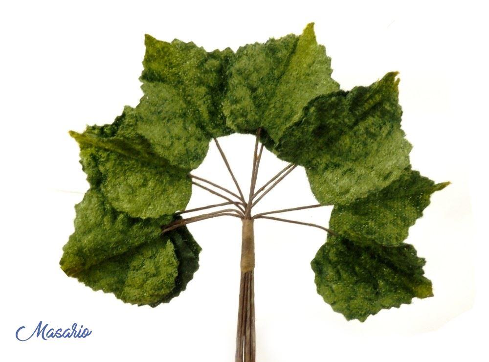 12 Velvet Ivy leaves