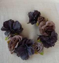 Banda flores alambrada 35 cm