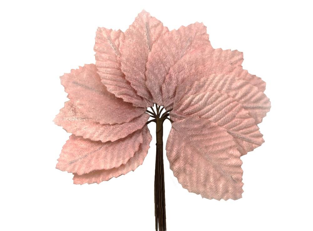 12 hojas de terciopelo (4 x 6,5 cm.)