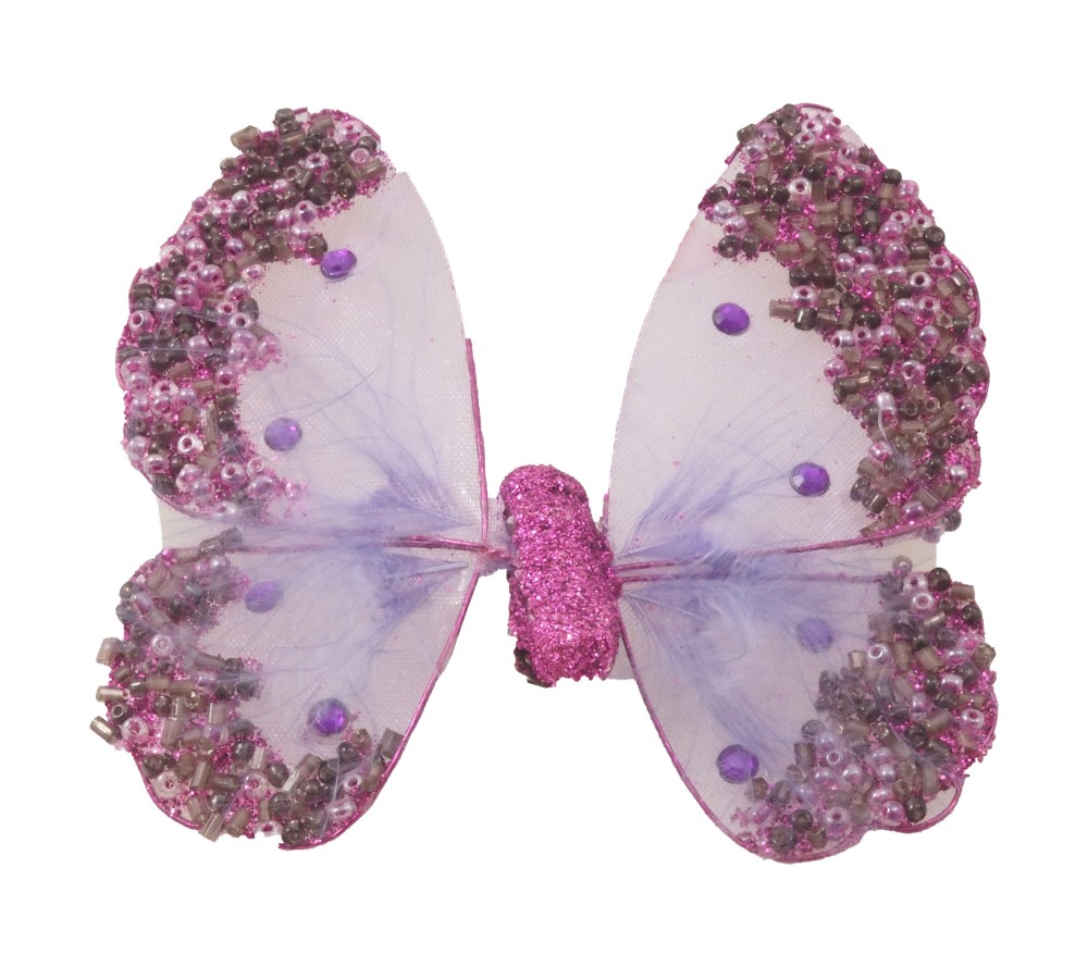 Organza and crystal butterfly