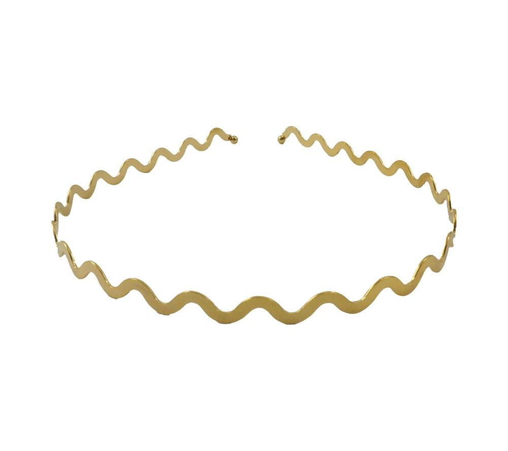 Diademas especiales metalicas doradas